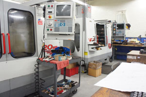Line of CNC machines